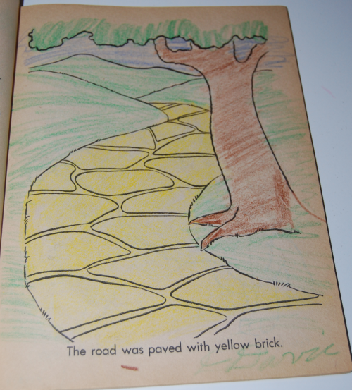 Wizard of oz coloring book saalfield 2