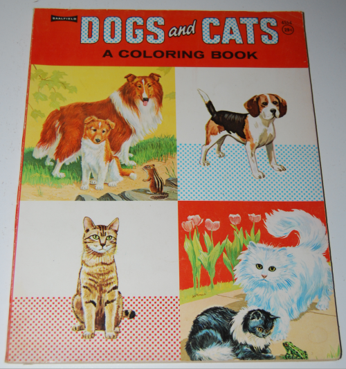Whitman dogs & cats a coloring book