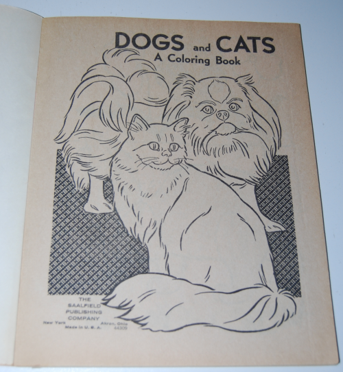 Whitman dogs & cats a coloring book x