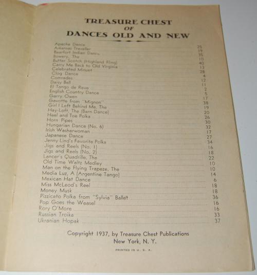 Treasure chest of dances 1