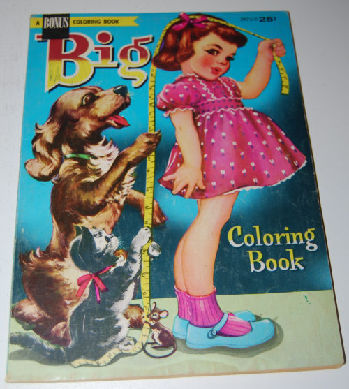 Vintage big coloring book