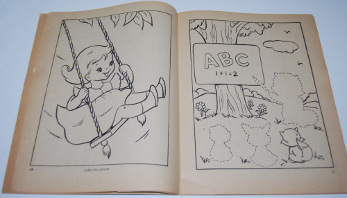 Vintage whitman big coloring book 4