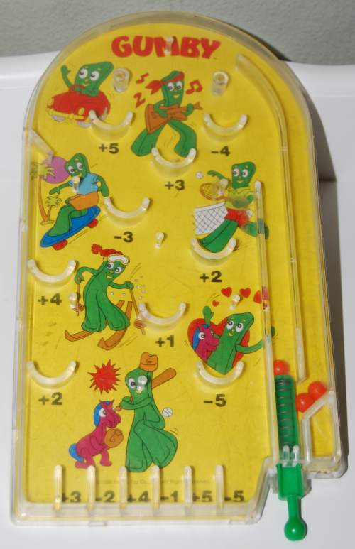 Gumby pinball toy 1