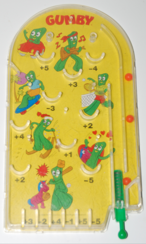 Gumby pinball toy 6