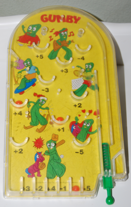 Gumby pinball toy 3