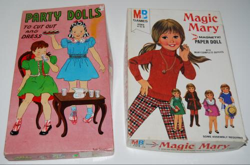 Vintage paper doll toys
