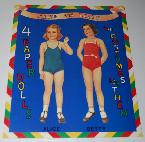 Alice & betty paperdolls