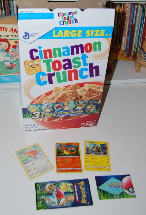 Pokemon cereal cards