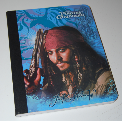 Pirates of the caribbean composition book