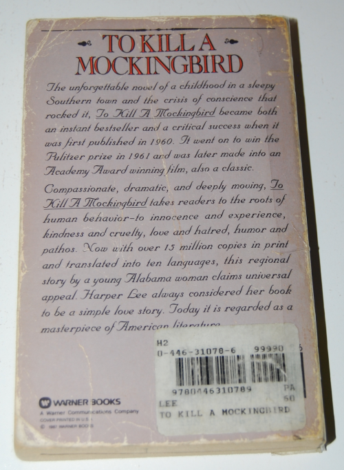To kill a mockingbird x