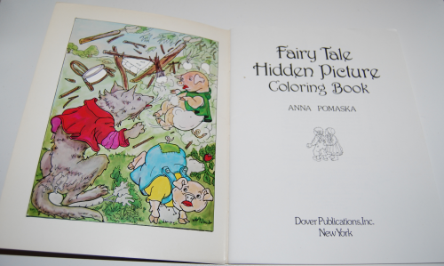 Dover fairy tale coloring book 1