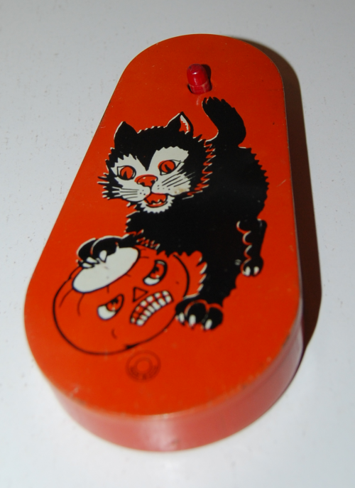 Vintage tin halloween noisemaker 3