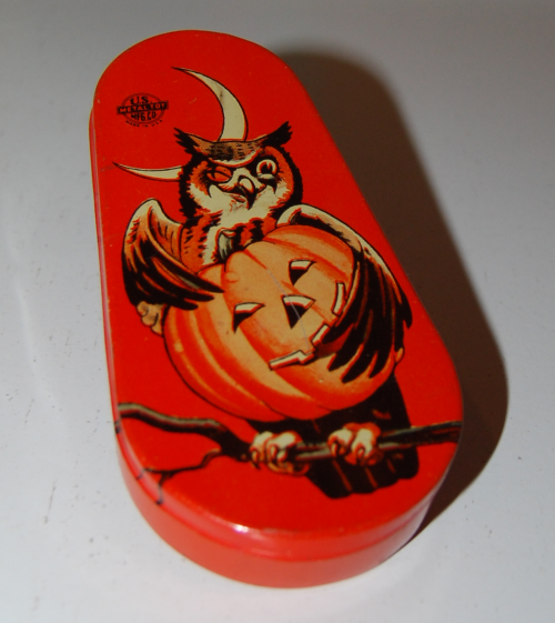 Vintage tin halloween noisemaker