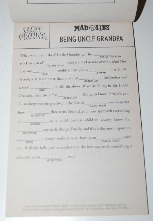 Uncle grandpa madlibs 3