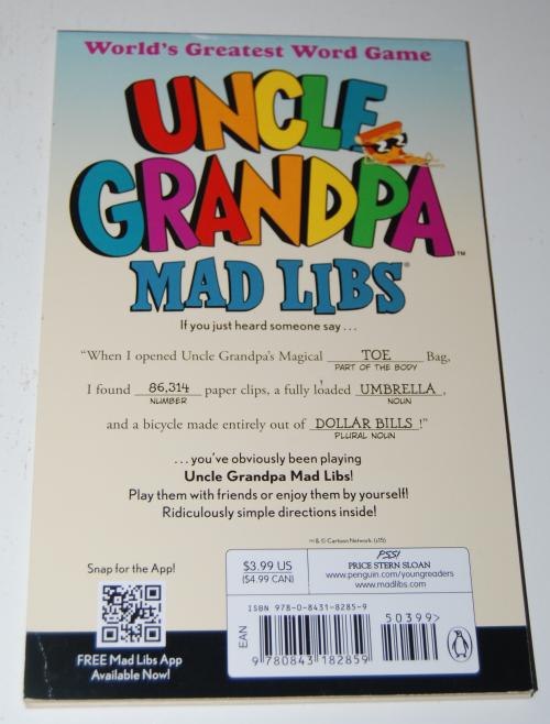 Uncle grandpa madlibs x
