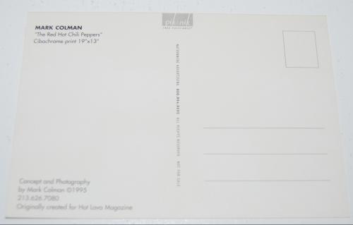Rhcp postcard x