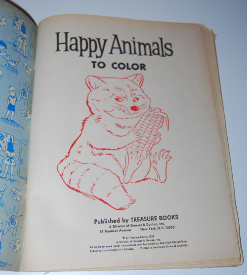 Happy animals to color 1
