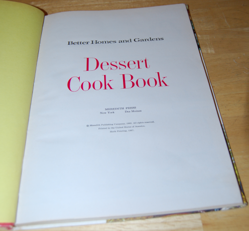 Old cookbooks 1960