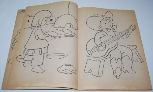 Vintage whitman big coloring book 3