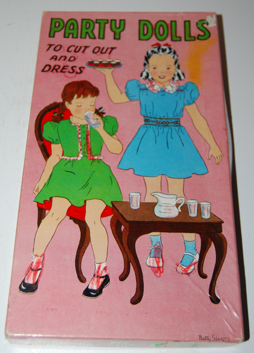 Vintage paper doll toys party dolls