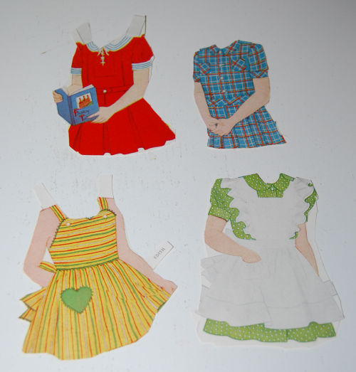 Vintage paper doll toys party dolls 6