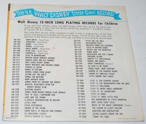 Disney toyland record x