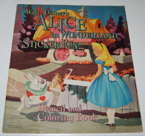 Alice in wonderland sticker fun book