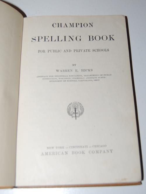 Champion spelling book 2
