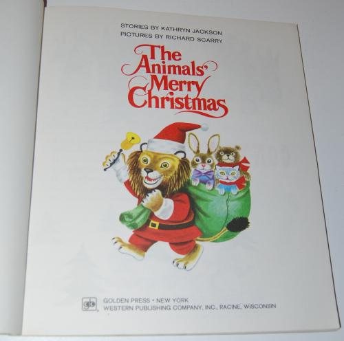 Richard scarry animals merry christmas 1