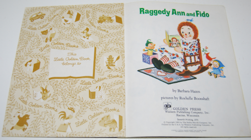 Raggedy ann & fido little golden book 1