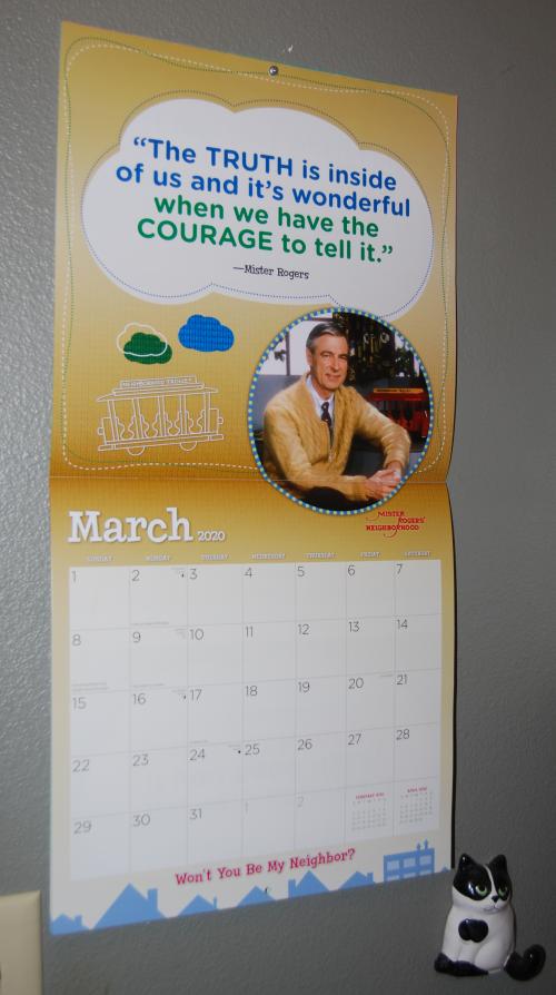 Mr rogers 2020 calendar 4