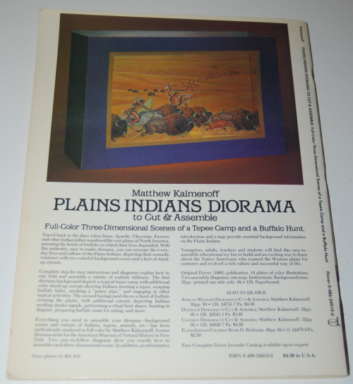 Plains indians diorama book x