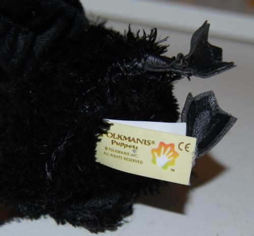 Folkmanis raven chick puppet x