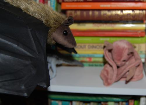 Folkmanis little brown bat puppet 2