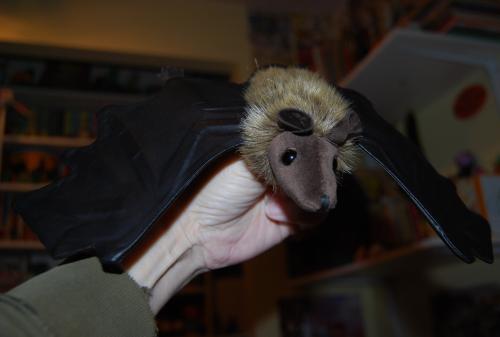 Folkmanis little brown bat puppet 3