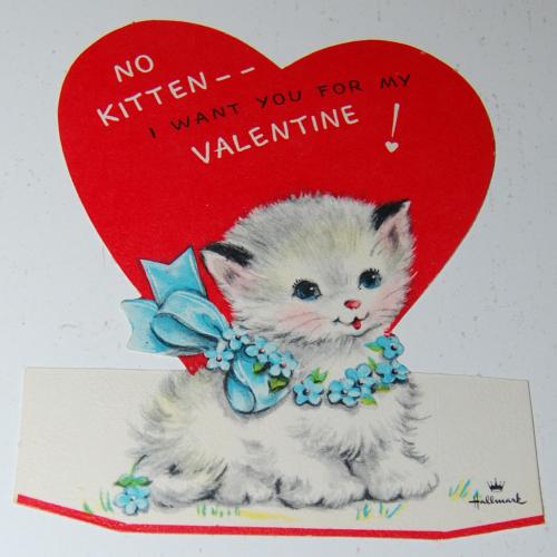 Vintage hallmark kitty valentine