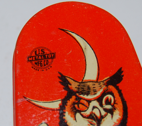 Vintage tin halloween noisemaker 1