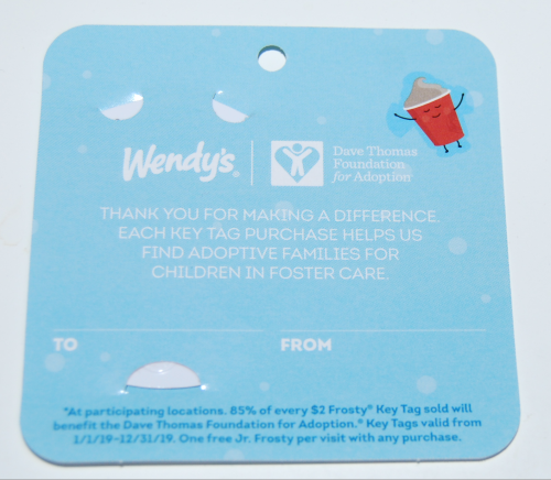 Wendy's free frosty keytag