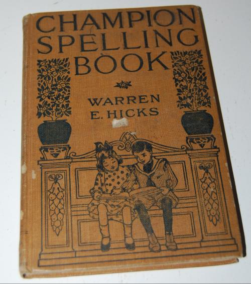 Vintage champion spelling book