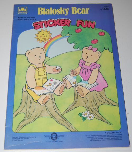 Bialosky bear sticker fun book