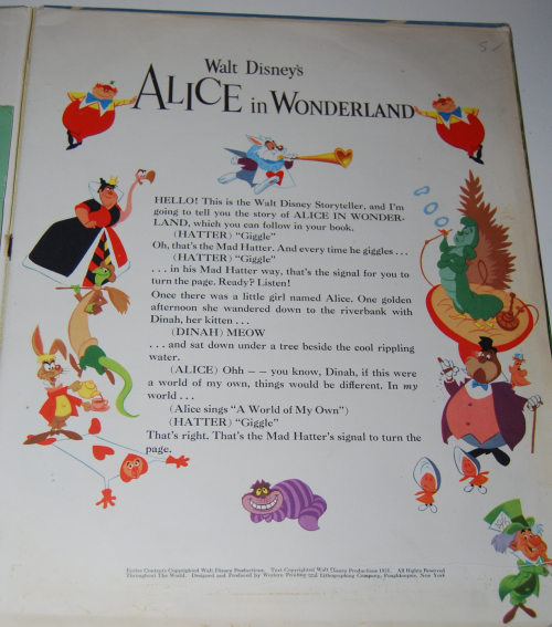 Alice in wonderland rca victor book 2