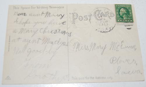 Vintage xmas postcard 1x