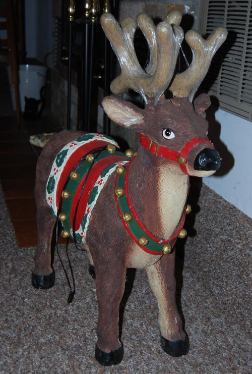 Xmas decor reindeer