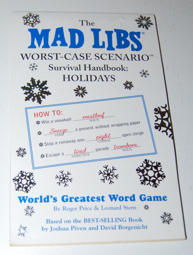 holiday survival madlibs