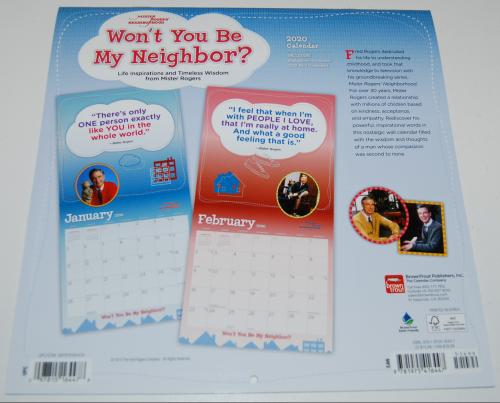 Mr rogers 2020 calendar x