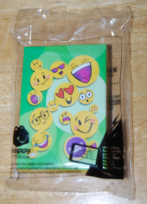 Happy meal emojis playing cards