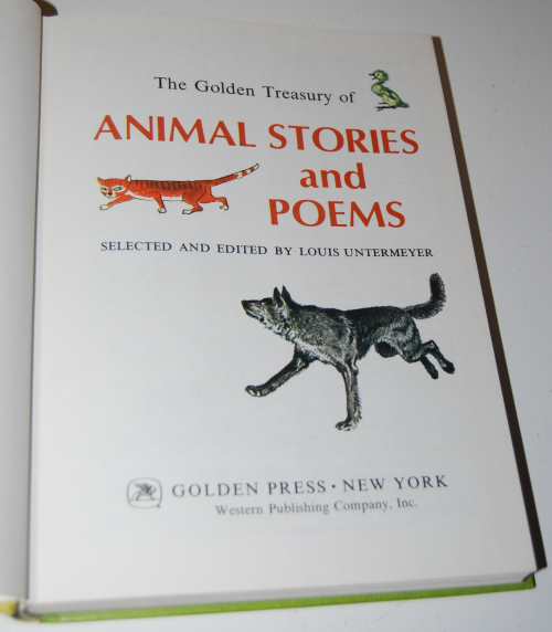 Golden treasury of animal stories 1