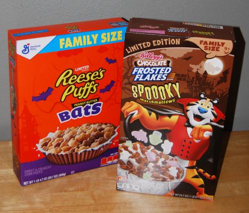 Spooky halloween cereals