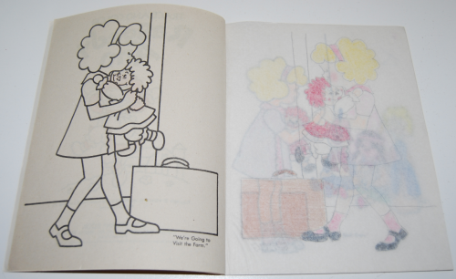 Raggedy ann trace & color 2