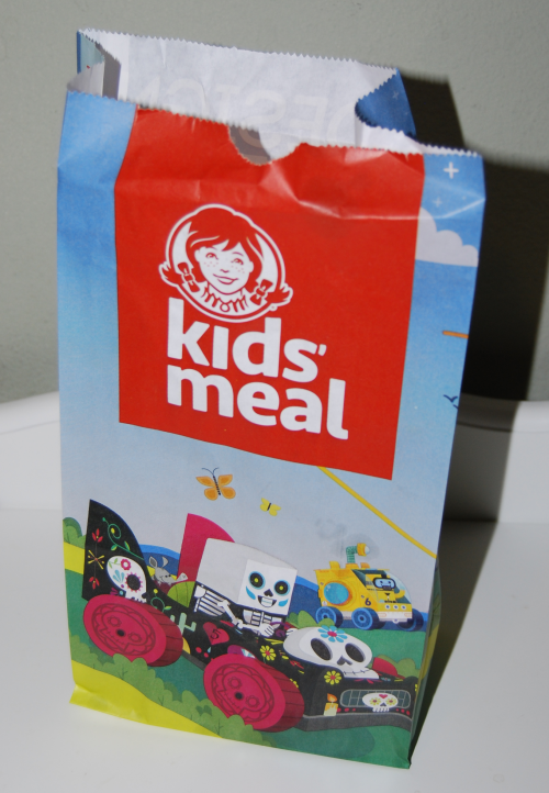 Wendy's kidsmeal bag